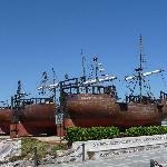 Ships on the grounds that were built by a spaniard in the 1990's and he actually went to South A