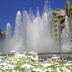 La bella fontata nella piazza del municipio
