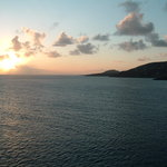 St Martin sunset from the ship
