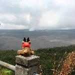 Wee Patudy viewing the caldera