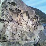 Big, cool looking rocks at Clayton Beach