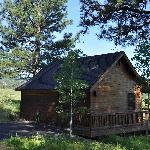 Cabin overlooking the meadow
