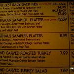 Das Festhaus menu
