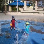 The new splash park on the beach