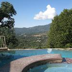 Pool and a great view over the valley
