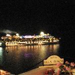 Night scene from balcony