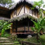 The beautiful eco-lodge
