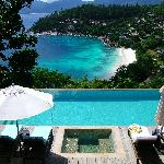The fantastic two bedroom villa pool and view