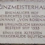 Gedenktafel des Coburger Münzmeisterhauses