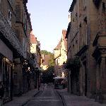 Crepuscule  dans la ville medievale de Sarlat la Caneda