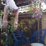Back patio sitting area--best Internet reception location