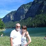 Beside the local lake at Montriond!
