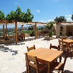 The sublime restaurant patio at Dlabelos