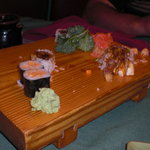 We had devoured most of the sushi by now!