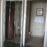 Spacious closet and bathroom