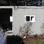 "Outside view of the ""shed"""