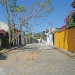 street where the posada is located