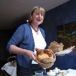 Frieda with one of her wonderful breads