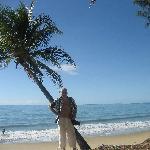 Franco sulla spiaggia del Thala beach