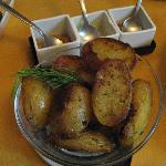 Rustic Potatoes with three sauces...delicious!