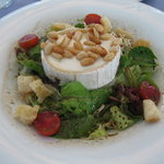 The cheese (brie) salad...amazing!