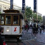 The Powell cable car turnaround near Hotel Abri