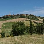 view of pienza from backyard