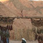 entrée du camp bédouin dans la montagne