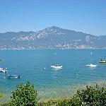 Aussicht auf den See von der Ferienwohnung aus