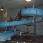 Here's the waterslide.