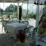 The breakfast hall