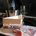 The hotel had a bottle of champagne and a nice note from the manager waiting for us when we arri