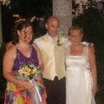 Bride and Groom with their beautiful daughter Joanne