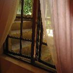 window of room next to stairs
