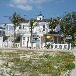 View of Coconut Inn from the beach street