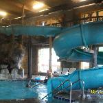 Indoor waterslide and pool was awesome.. Water felt like bath water.. Great!!!