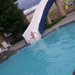 The outdoor waterslide.. Water was a little cool but slide was awesome!!!