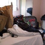 unser Zimmer am Tag der Abreise...