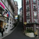 street close to hotel