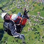 Para gliding over Grindelwald