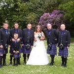Myself and the kilties in the grounds of the hotel