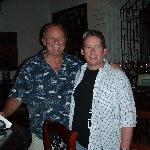 With Jim Petersen at the Hotel Bar