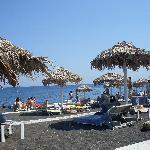 Black sand beach at Perivolos