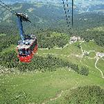 The final part of the ascent with aerial cableway is just magnificent