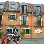 my family in front of casa rustica
