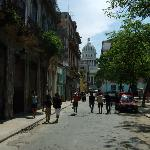 View towards El Capitolio from Plaza Cristo