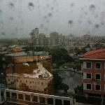 View from the 12th floor of rainy Miami.  Hey, at least it wasn't 100 degrees.