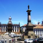 Praça Tiradentes - local onde foi exposto ao público os restos mortais do Mártir Tiradentes