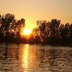 Sunset from Le Bateau Mouche so romantic
