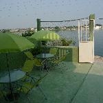 Lake view patio